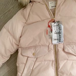 09178507 Zara Jackets & Coats - Zara kids girl down jacket puffer fur size 7 8